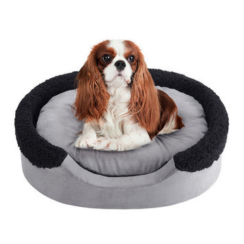 Soft Touch Lucky Oval Cuddler Dog Bed - 18
