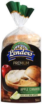 Lenders® Premium Bagel Shop Bagels Apple Cinnamon 16.5 oz. Bag