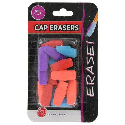 Debbie Lynn Eraser Cap Assorted Colors 15 Count
