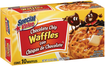 Special Value Special Value Chocolate Chip Waffles Waffles 350 G Box