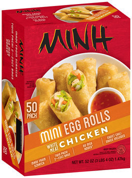Minh® Mini Chicken Egg Rolls 52 oz. Box