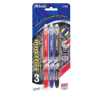 Bazic Frizz Erasable Gel Pen, 3/Pack
