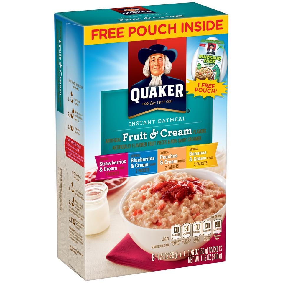 Quaker® Fruit & Cream Instant Oatmeal 8-1.23 oz. Packets