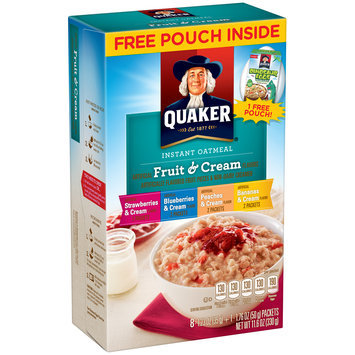 Quaker® Fruit & Cream Instant Oatmeal 8-1.23 oz. Packets
