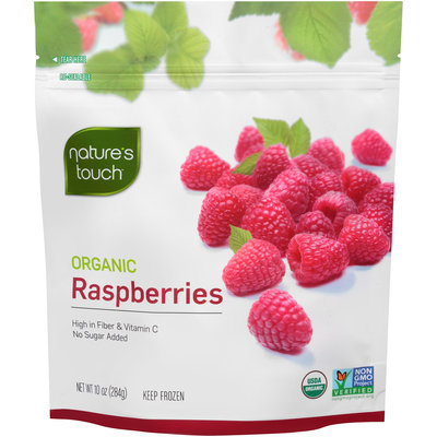 Nature's Touch™ Organic Raspberries 10 oz. Stand-Up Bag