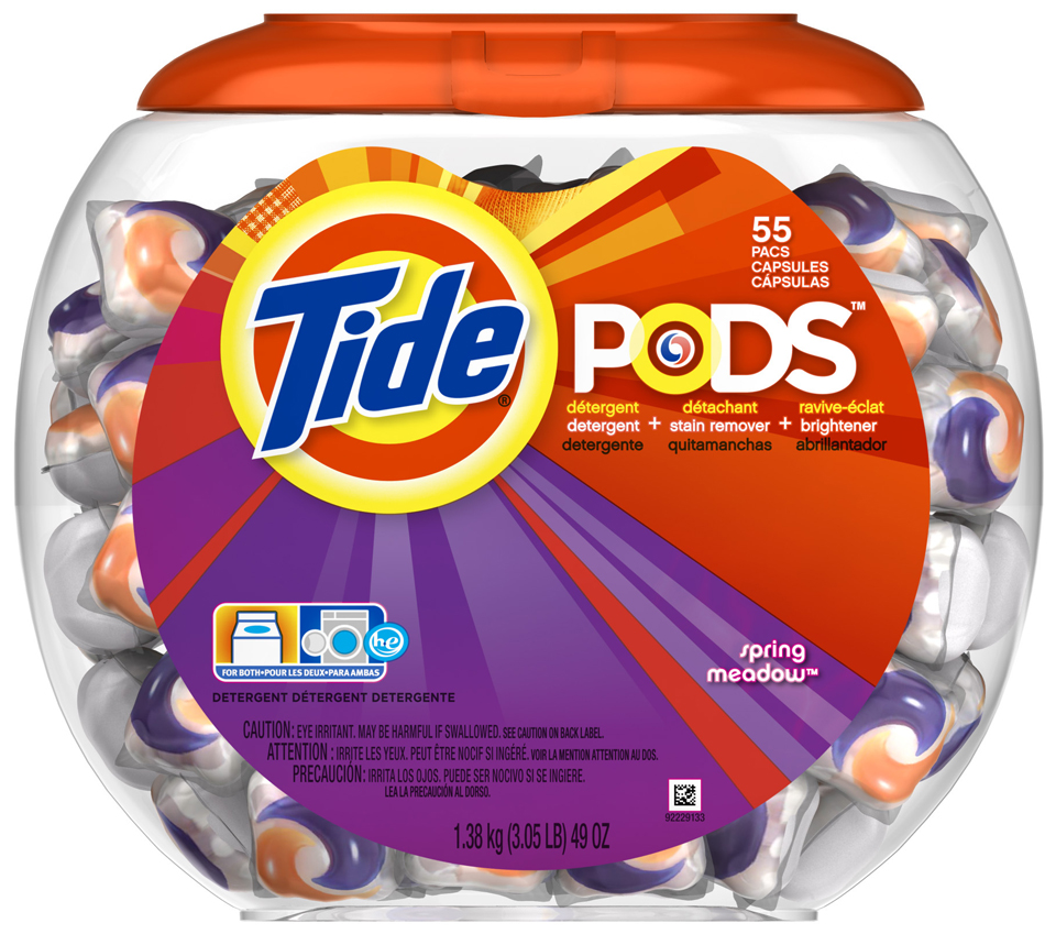 Tide PODS Spring Meadow Scent Laundry Detergent 55 ct Tub