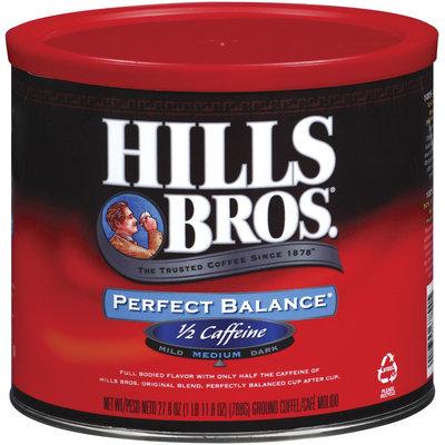 Hills Bros Perfect Balance 1/2 Caffeine  Coffee 27.8 Oz Canister