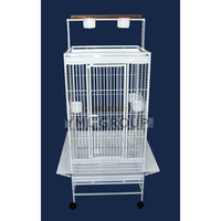 Yml Play Top Wrought Iron Parrot Cage Color: White