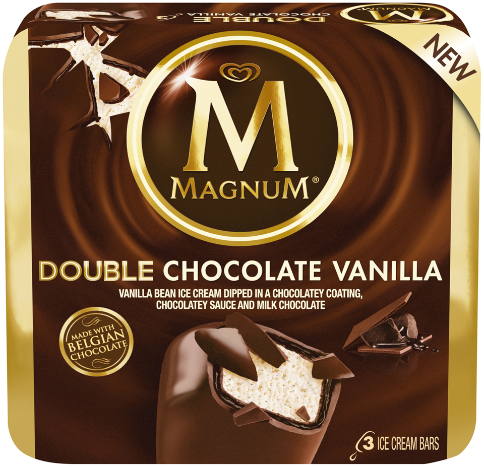 Magnum® Double Chocolate Vanilla Ice Cream Bars 3 count Box