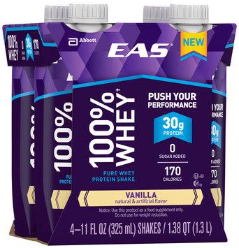 EAS® 100% Whey Vanilla Pure Whey Protein Shakes 4-11 fl. oz. Cartons