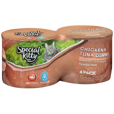 Special Kitty™ Chicken & Tuna Dinner Wet Cat Food 4-5.5 oz. Cans