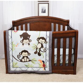 Baby's First Hangin' Around 4 Piece Crib Bedding Set