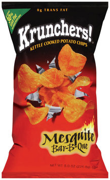 Krunchers!® Kettle Cooked Potato Chips Mesquite Bar-B-Que 8 oz.