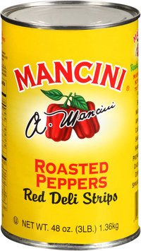 Mancini® Red Deli Strips Roasted Peppers 48 oz. Tin