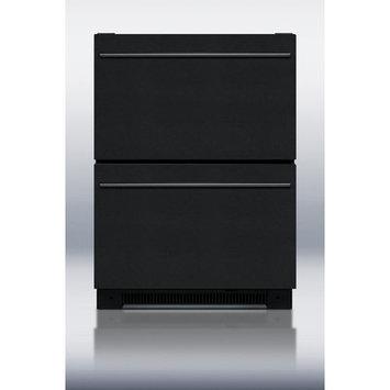 Summit Appliances Summit SP5DS2DBLK 5.4 Cu. Ft. Black Undercounter Built-In Drawer Refrigerator