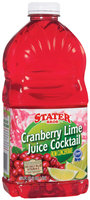 Stater Bros. Cranberry Lime Juice Cocktail 2 Qt Plastic Bottle