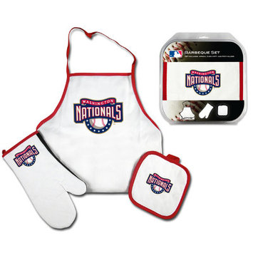 Mcarthur Towel Washington Nationals 3-Piece BBQ Tailgate Set White