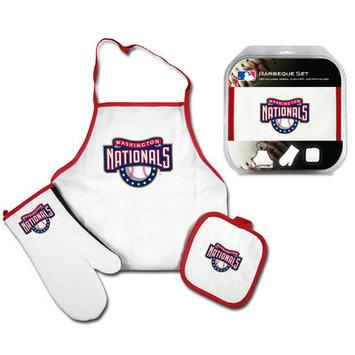 Mcarthur Towel Washington Nationals 3-Piece BBQ Tailgate Set White