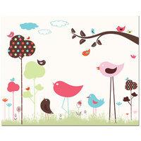 Secretly Designed Bird Valley Art Print Size: 11