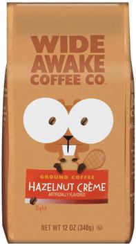Wide Awake Coffee Company Hazelnut Creme Light Ground Coffee 12 Oz Stand Up Bag