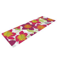 Kess Inhouse Star Flower by Jacqueline Milton Floral Yoga Mat