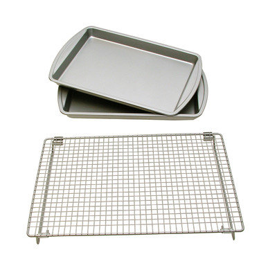 Lcm Home Fashions, Inc. 3 Piece Baking Sheet Set with Rack