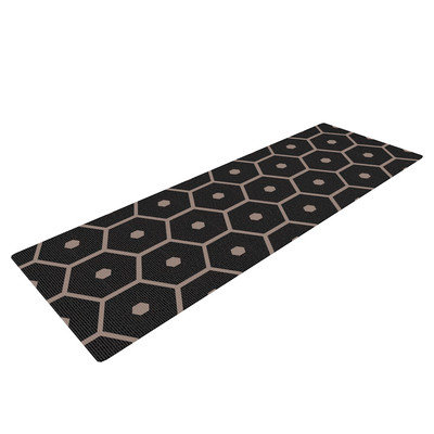 Kess Inhouse Tiled Mono by Budi Kwan Yoga Mat