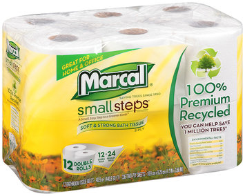 Marcal® Small Steps® Home & Office 2-Ply Bath Tissue Double Rolls 12 ct. Pack