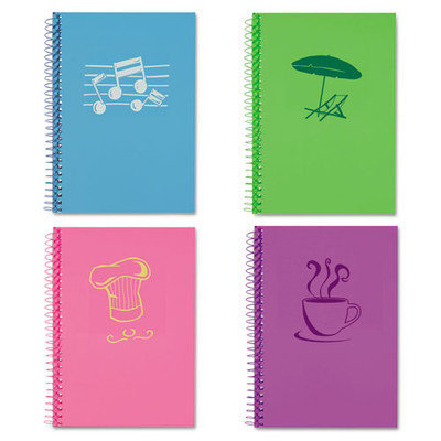 Roaring Spring Lifenotes Notebook, College Rule, 7 x 5, 80 Sheets, , Assorted Covers, 4 /Pack