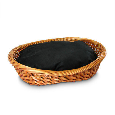 O'donnell Industries Odonnell Industries 56002 4 Wicker Basket 18 in. x 27 in. with Pillow Holly