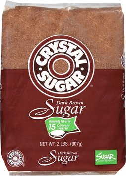 Crystal Sugar® Dark Brown Sugar 2 lb. Bag