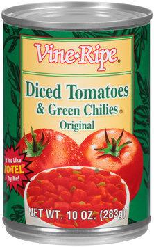 Vine-Ripe® Original Diced Tomatoes & Green Chiles 10 oz. Can