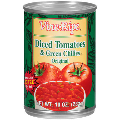 Vine-Ripe® Original Diced Tomatoes & Green Chiles 10 oz. Can