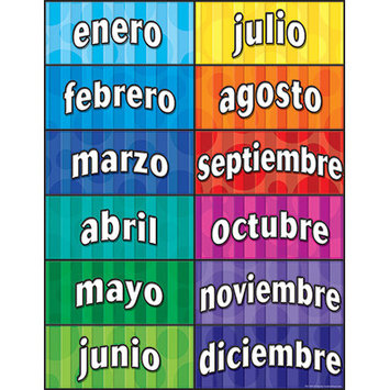 TEACHER CREATED RESOURCES TCR7693 MONTHS OF THE YEAR SPANISH CHART
