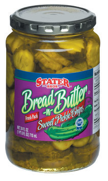 Stater Bros. Sweet Bread 'n' Butter Chips Pickles 24 Fl Oz Jar