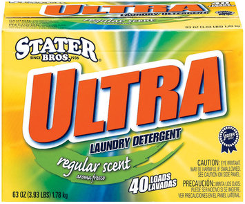 Stater Bros. Ultra Regular Scent 40 Loads Laundry Detergent 63 Oz Box