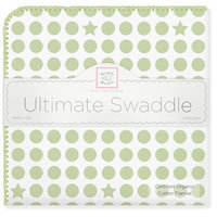 Swaddle Designs SwaddleDesigns Organic Ultimate Receiving Blanket - Kiwi Dots and Stars - 1 ct.