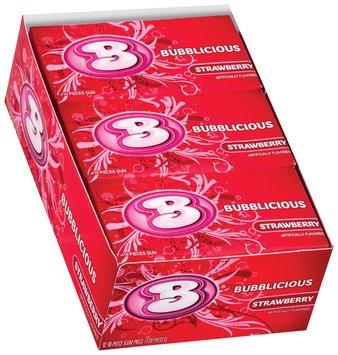 Bubblicious 10 Piece Packs Strawberry Bubble Gum 12 Pk Box