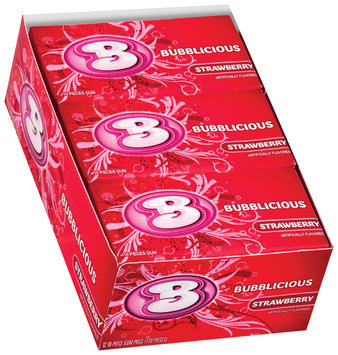 Bubblicious 10 Piece Packs Strawberry Bubble Gum 12 Pk Box