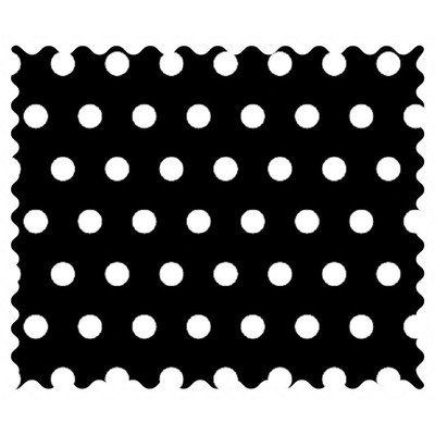 Stwd Polka Dots Fabric by the Yard Color: Black
