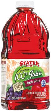 Stater Bros. Apple Berry Unsweetened 100% Juice 64 Fl Oz Plastic Bottle