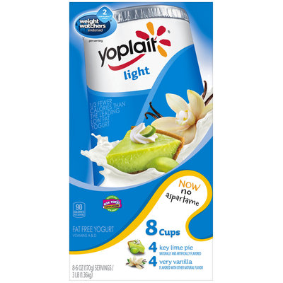 Yoplait® Light Key Lime Pie/Very Vanilla Fat Free Yogurt Variety Pack 8-6 oz. Cups