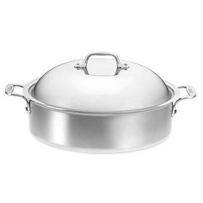 All Clad All-Clad Stainless Steel 6 Qt. Covered French Braiser with Rack