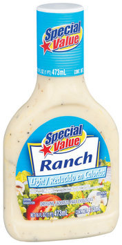 Special Value Light Ranch Dressing 16 Fl Oz Bottle