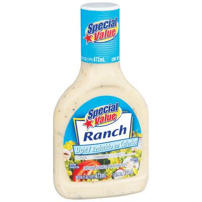 Special Value Light Ranch Dressing 16 Fl Oz Bottle