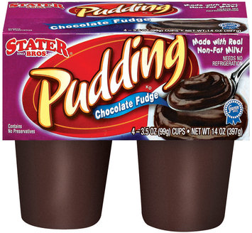 Stater Bros. Chocolate Fudge Pudding 4 Ct Cups