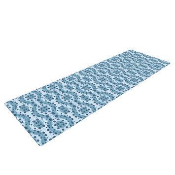 Kess Inhouse Blue Circle Abstract by Empire Ruhl Geometric Yoga Mat