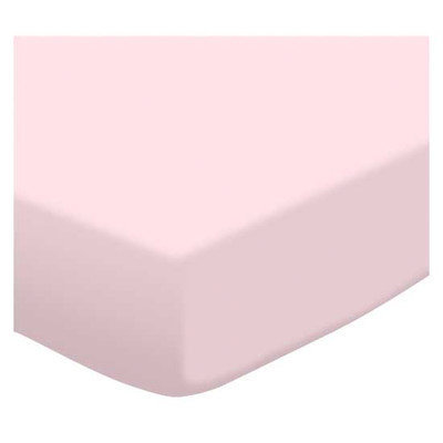 Stwd Organic Jersey Knit Travel Crib Light Fitted Sheet Color: Baby Pink