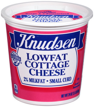Knudsen Small Curd 2% Milkfat Lowfat Cottage Cheese 24 oz. Tub