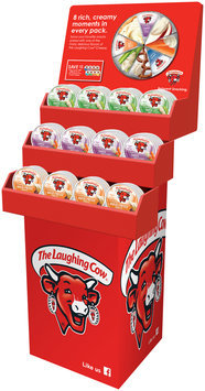 The Laughing Cow® Creamy Swiss Light Cheese/Creamy Swiss Garlic & Herb Cheese/Creamy Queso Fresco Chipotle Cheese Shipper